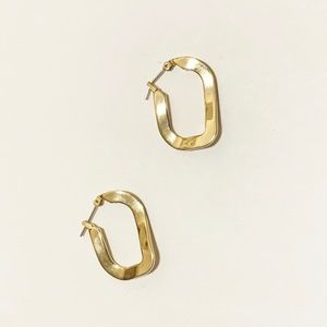 Simple Abstract Gold Told tone Earrings